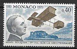 MONACO    -    1970 .   Y&T N° 840 **.   Henri ROUGIER  /  Avion - Monaco
