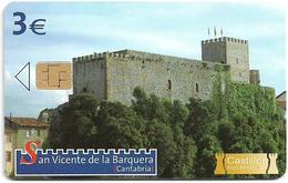 Spain - Telefónica - Castillos Con Historia - San Vicente De La Barquera - P-593 - 09.2006, 3€, 4.000ex, Used - Emissions Privées