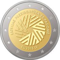 Latvia Presidency Of The Council Of The EU 2015, 2 Euro - Lettonie