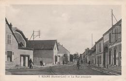 CPA - 28 - SOURS - La Rue Principale - 025 - Altri Comuni