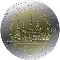 Latvija, Riga - European Capital Of Culture 2014, 2 Euro - Lettonie