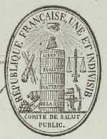 Héraldique Paris An 2 - 1793  Le Comité De Salut Public De La Convention National Bureau De La Fabrication Des Armes - Postmark Collection (Covers)