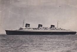 "CPSM 10X15 .Paquebot S/S NORMANDIE Cie Gale Transatalantique "" French Line "" Le Havre-Angleterre -New York - Paquebots"