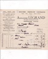 50-A.Legrand..Droguerie-Produits Chimiques... Avranches  (Manche) 1936 - Drogerie & Parfümerie