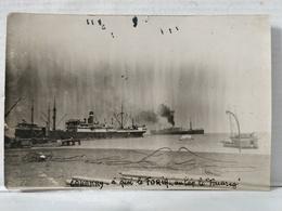 Afrique. Conakry. Carte Photo. Bateau Foria à Quai. 1927 - Afrique