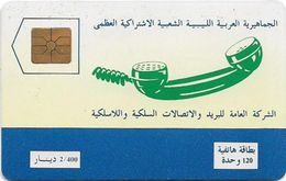 Libya - GPTC - Telephone Receiver, 120U, 1992, 2.000ex, Mint (check Photos!) - Libya