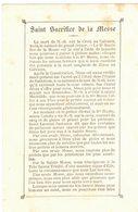 SAINT SACRIFICE DE LA MESSE JEAN MARIE EVÊQUE DE VANNES IMAGE PIEUSE RELIGIEUSE  HOLY CARD SANTINI HEILIG PRENTJE - Imágenes Religiosas