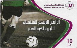 Libya - Libyana - Football, 10LD Prepaid Card, Used - Libya