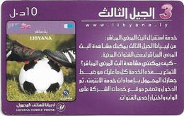 Libya - Libyana - Football #2, 10LD Prepaid Card, Used - Libya