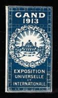 V-530 Exposition Internationale Vignette Gand 1913 MH* - Universal Expositions