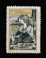 V-537 Exposition Internationale Vignette Gand 1899 MH* - Universal Expositions