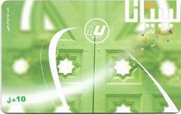 Libya - Libyana - Green Door, 10LD Prepaid Card, Used - Libya