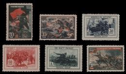 Russia / Sowjetunion 1945 - Mi-Nr. 953-958 ** - MNH - Armee / Army - 1923-1991 UdSSR