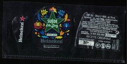 France Lot 3 Étiquettes Bière Beer Labels Bière Heineken Suède By Kiki Ljung - Beer