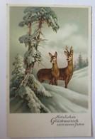 Neujahr, Rehe, Winterlandschaft,   1940  ♥  (4196) - Weihnachten