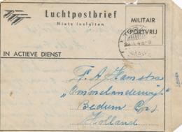 Nederlands Indië - 1948 - Volbeschreven Militair LP-blad Van LB TEGAL/3 Naar Bedum / Nederland - Nederlands-Indië