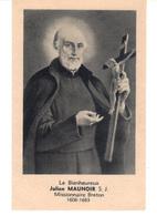 Image Religieuse.  Le Bienheureux Julien Maunoir S.J. Missionnaire Breton  - 1606-1683- Carte Ouvrante. - Images Religieuses