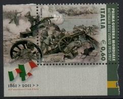 """Italia - Repubblica 2011 """"Repubblica 2011 """"Fatti D'Arme, Prima Guerra Mondiale, Battaglia Dell'Isonzo €. 0,60"""", Nuovo - 6. 1946-.. Repubblica"""