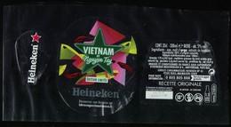 France Lot 3 Étiquettes Bière Beer Labels Bière Heineken Vietnam By Nguyen Tay - Beer