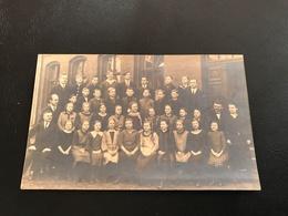 Carte Photo Classe Mixte Et Leurs Professeurs  - Rudolf Gentsch BERLIN Friedrichshagen 1924-25 - Groupes D'enfants & Familles