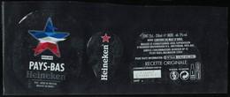 France Lot 3 Étiquettes Bière Beer Labels Bière Heineken Euro 2016 Sélection Pays Bas - Beer