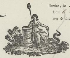 Soultz An 6 - 16.12.1797 Le Commissaire Officier De Santé  Héraldique - Postmark Collection (Covers)