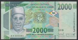 Guinea 2000 Francs 2018 Pew UNC - Guinea