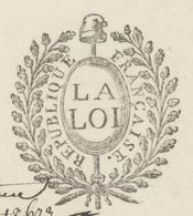 """Turckheim An 6 - 11.5.1798 Héraldique """"Cure Zimmerbach"""" - Marcophilie (Lettres)"""