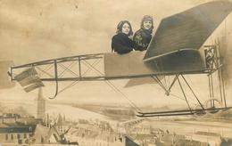 """Carte Photo Ancienne - Photo Montage - Surréalisme - Photographe - """" Aviation Avion Nevers 58 """" - Photographie - Fotografia"""
