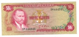 Jamaica 50 Cents 1960s. P-53a , F/VF - Jamaica