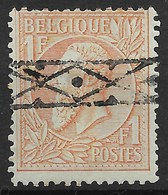 BELGIQUE : LEOPOLD II N° 51 SUPERBE OBLITERATION ROULETTE - 1884-1891 Leopold II.