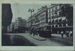CP Verte En FM Algérie Alger Avenue Dumont D'Urville Ed Photo Africaine 1 R Feuillet CAD Alger Gare 1946 Tramway - Covers & Documents