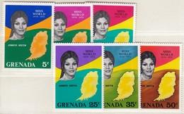Grenada 1971 / Miss World, Jennifer Hosten / MINT Mi 395-400 - Grenada (...-1974)