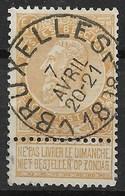 BELGIQUE : LEOPOLD II N° 62 SUPERBE OBLITERATION BRUXELLES TB CENTRE - 1893-1900 Schmaler Bart