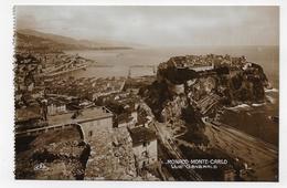 MONTE CARLO - N° 1 - MONACO - VUE GENERALE - Ed. REAL Photo C.A.P. - CPA AVEC GLACAGE NON VOYAGEE - Mónaco