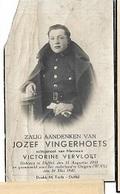 ZO1/ W.O. II/  ° DUFFEL 1910 GESNEUVELD OOIGEM 1940  JOZEF VINGERHOETS Met Foto - Religion & Esotérisme