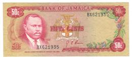 Jamaica 50 Cents 1960s. P-53a , AUNC - Jamaica