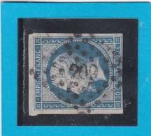 N° 14 B     PC  209   AVIGNON  / 86  VAUCLUSE  - REF 14112 - 1853-1860 Napoléon III