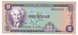 Jamaica 1 Dollar  1960s. P-54 , AUNC - Jamaica