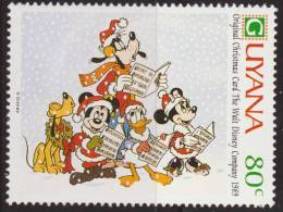 Guyana 1991 Scott 2470 Sello ** Walt Disney Tarjetas De Felicitacion Originales De 1989 80c Stamps Timbre Briefmarke - Disney