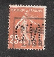 Perforé/perfin/lochung France No 235 C.N. Comptoir National D'Escompte (304) - Perforés