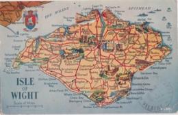 Bu - Cpa ISLE Of WIGHT - Map , Carte - Angleterre