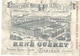 CARTE PUBLICITAIRE ANCIENNE - CIDRERIE DE LA VALLEE D'AUGE - RENE GUERET - LISIEUX - Publicité