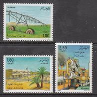 1989 Algeria Algerie Development Of South Agriculture Petroleum Oil Complete Set Of 3 MNH - Algeria (1962-...)