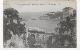 MONACO - N° 746 - RAVIN DE STE DEVOTE AVEC TRAIN - INTERIEUR DU PORT - CPA NON VOYAGEE - Puerto