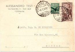 Biglietto Commerciale Mista Lavoro + Repubblica ( 219 ) - 6. 1946-.. Repubblica