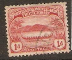 British Solomon Islands  1908  SG 9  1d  Fine Used - British Solomon Islands (...-1978)