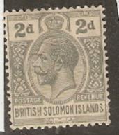 British Solomon Islands  1927  SG 43  2d  Mounted Mint - Salomonseilanden (...-1978)