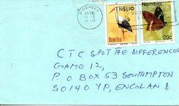NAMIBIE. N°735 De 1994 Sur Enveloppe Ayant Circulé. Cigogne. - Cigognes & échassiers