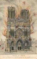 13543926 Reims_Champagne_Ardenne Cathedrale Pendant Le Bombardement  Reims_Champ - Reims